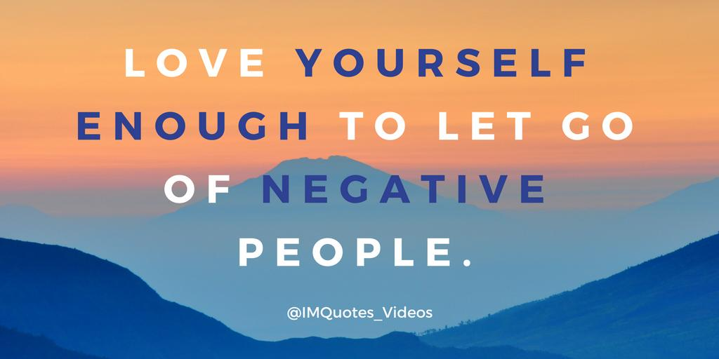 Don't be afraid to let go of negative people.  #ThursdayThoughts <br>http://pic.twitter.com/FUrIwuG050