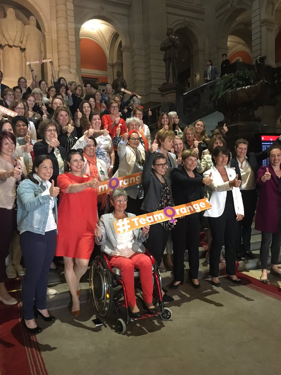 RT @micgirod: Les candidates #PDC en force pour les #EF19 #EF2019 #CHvote #TeamOrange https://t.co/ZlXHUneVAG