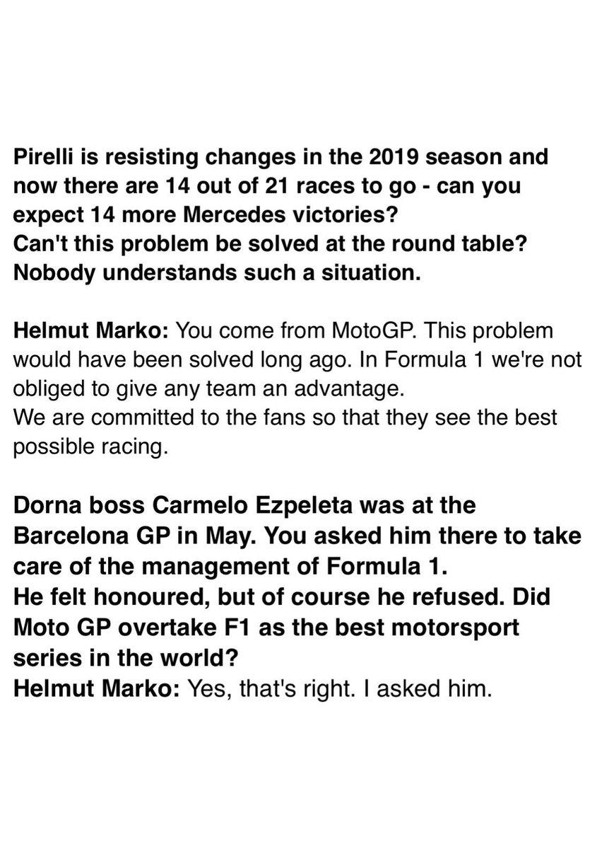 And some further statements 🙂  German: https://speedweek.com/formel1/news/144553/Dr-Helmut-Marko-In-der-MotoGP-waere-das-geloest.html…