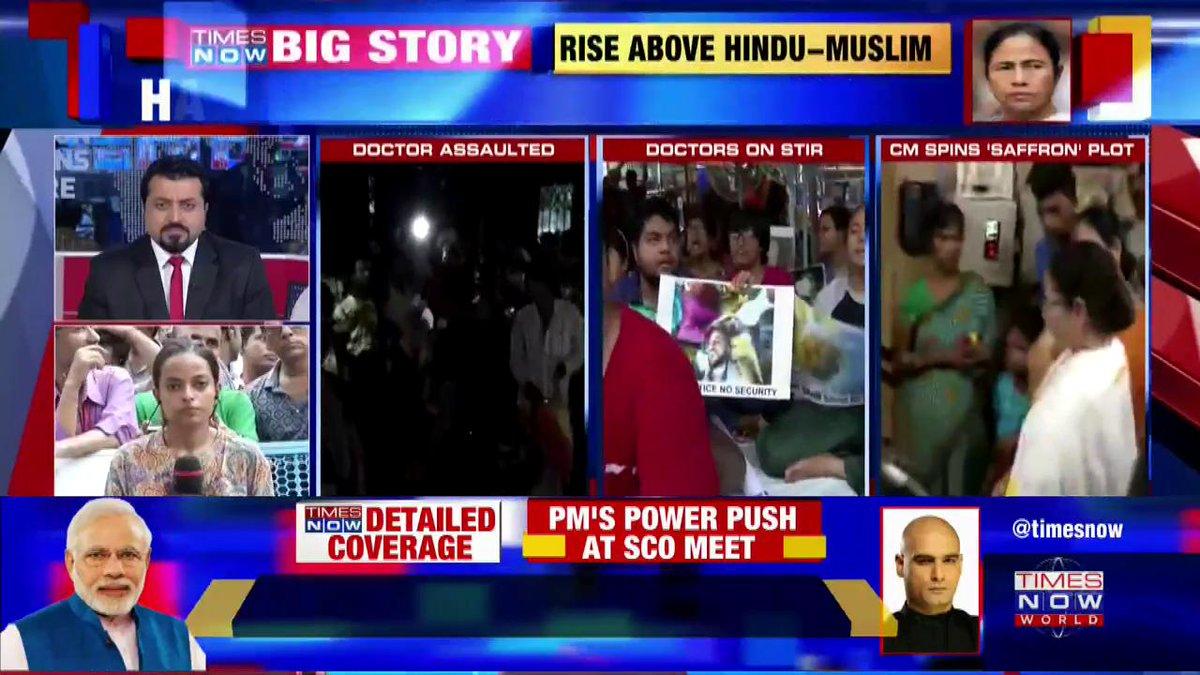 #DidiVsDoctors | Mass resignations stun Mamata (@MamataOfficial). Mamata spins 'saffron' plot & BJP (@BJP4India) blames 'Muslim' appeasement.More details by @SreyashiDey.