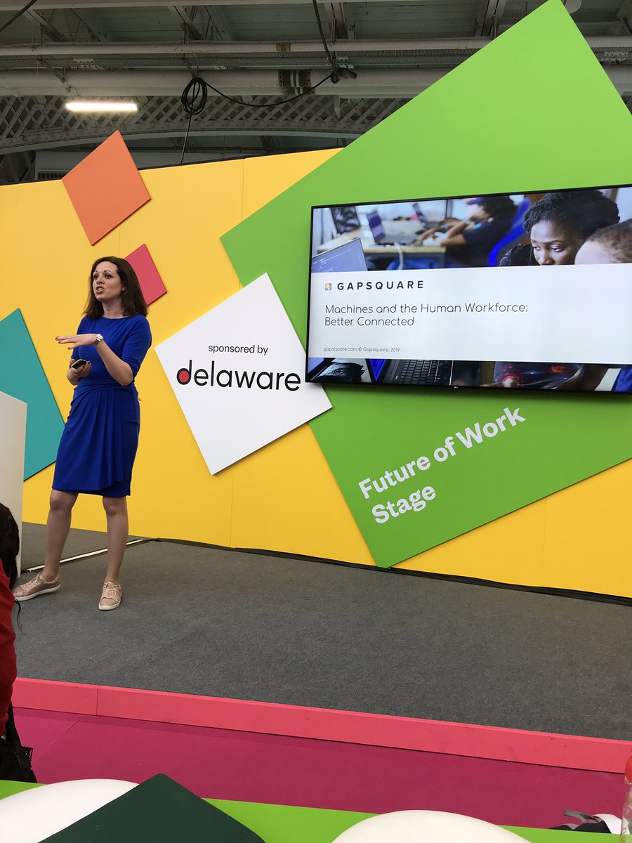 @ZaraNanu on the Future of Work stage! Another busy session, really looking forward to this one 🙌🏻 #CIPD @FestivalofWork @OracleHCM @gapsquare
