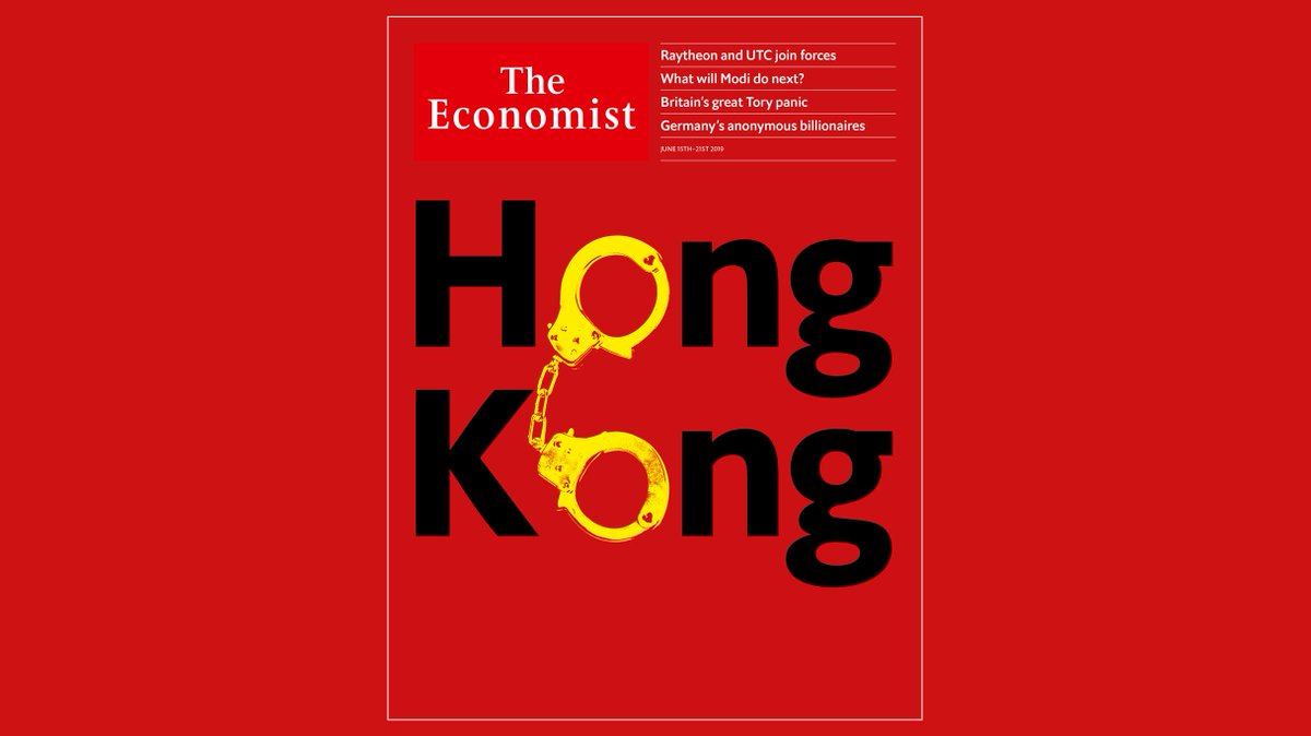Huge demonstrations in Hong Kong have rattled China's leadership. The future of the city is at stake. Our cover this week https://econ.st/2IcXxzN