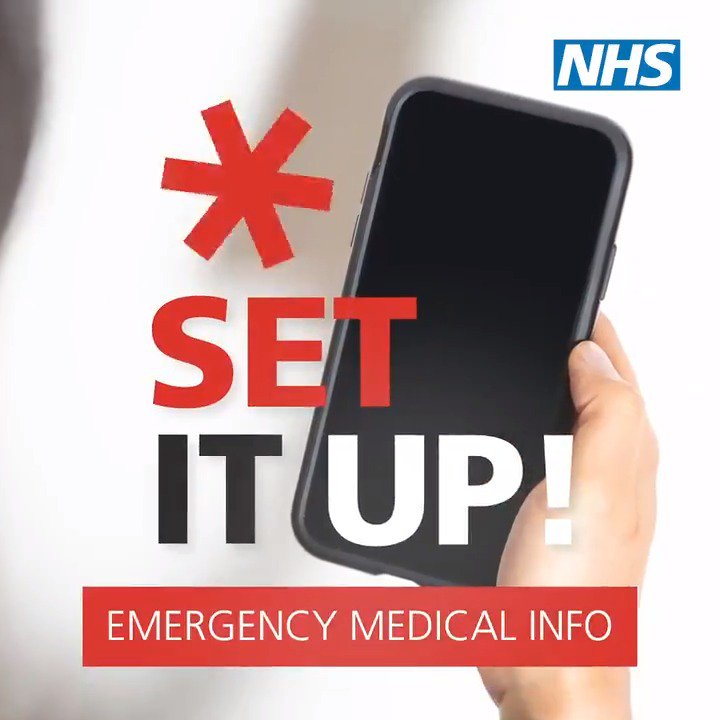 Setting up the emergency medical features on your phone could save your life. It allows ambulance staff to see info like allergies, medical conditions and who to contact in case of an emergency. Your devices documentation should tell you how to set it up.