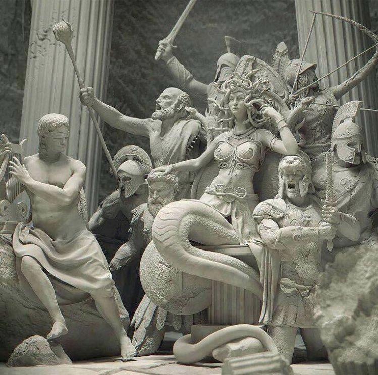 Medusa in her throne by Reza Sedhi