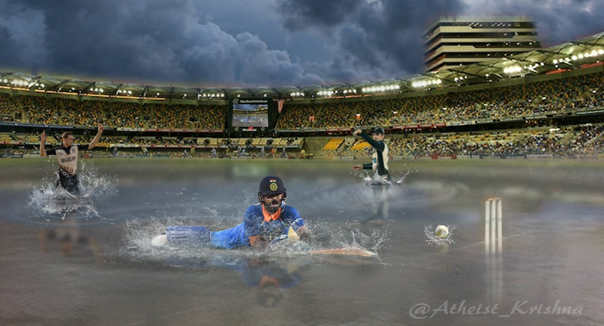 We dont wait 4 years for this kind of bullshitWorst world cup ever..🙄#INDvNZ #Rain