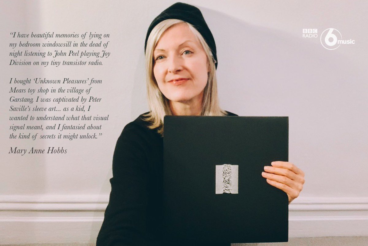 Let's listen to Unknown Pleasures together.  Mary Anne Hobbs is bringing in her own copy of Joy Division's debut album to play in full on Friday, on the eve of its 40th anniversary.  ⬛️ Listen to this special #UnknownPleasures40 transmission worldwide from 10:30am BST.