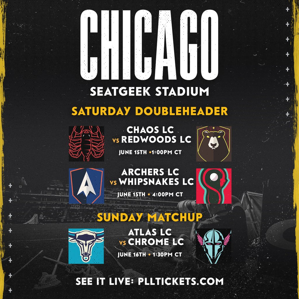 Week 3 Match-ups for the @PremierLacrosse League this weekend, June 15-16 in Chicago, IL.