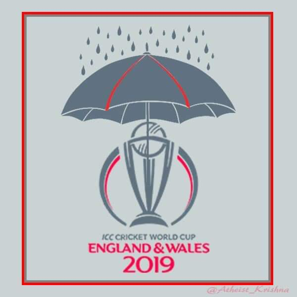 ICC u should start this WORLD CUP end of june...Rain is the worldcup champion ...thank u icc #CWC19 #INDvNZ #TeamIndia #BACKTHEBLACKCAPS #Nottingham #icc #Sdoull