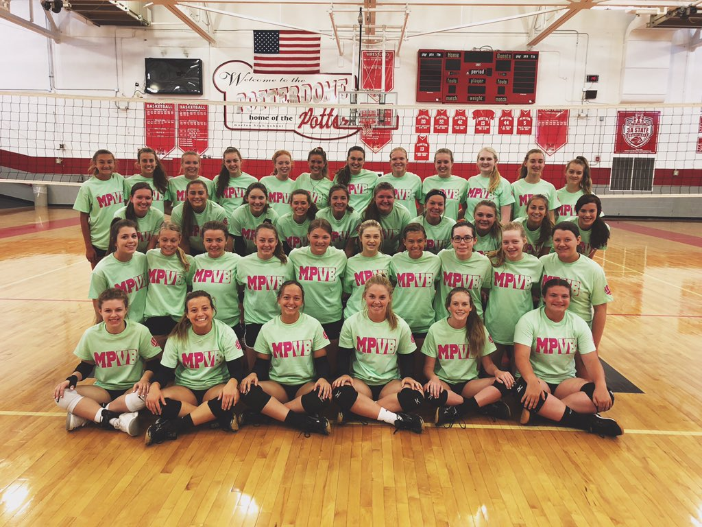 CAMP WEEK!! Excited to have Freshmen through Seniors in the same gym for a week! #MPVB #UNITY
