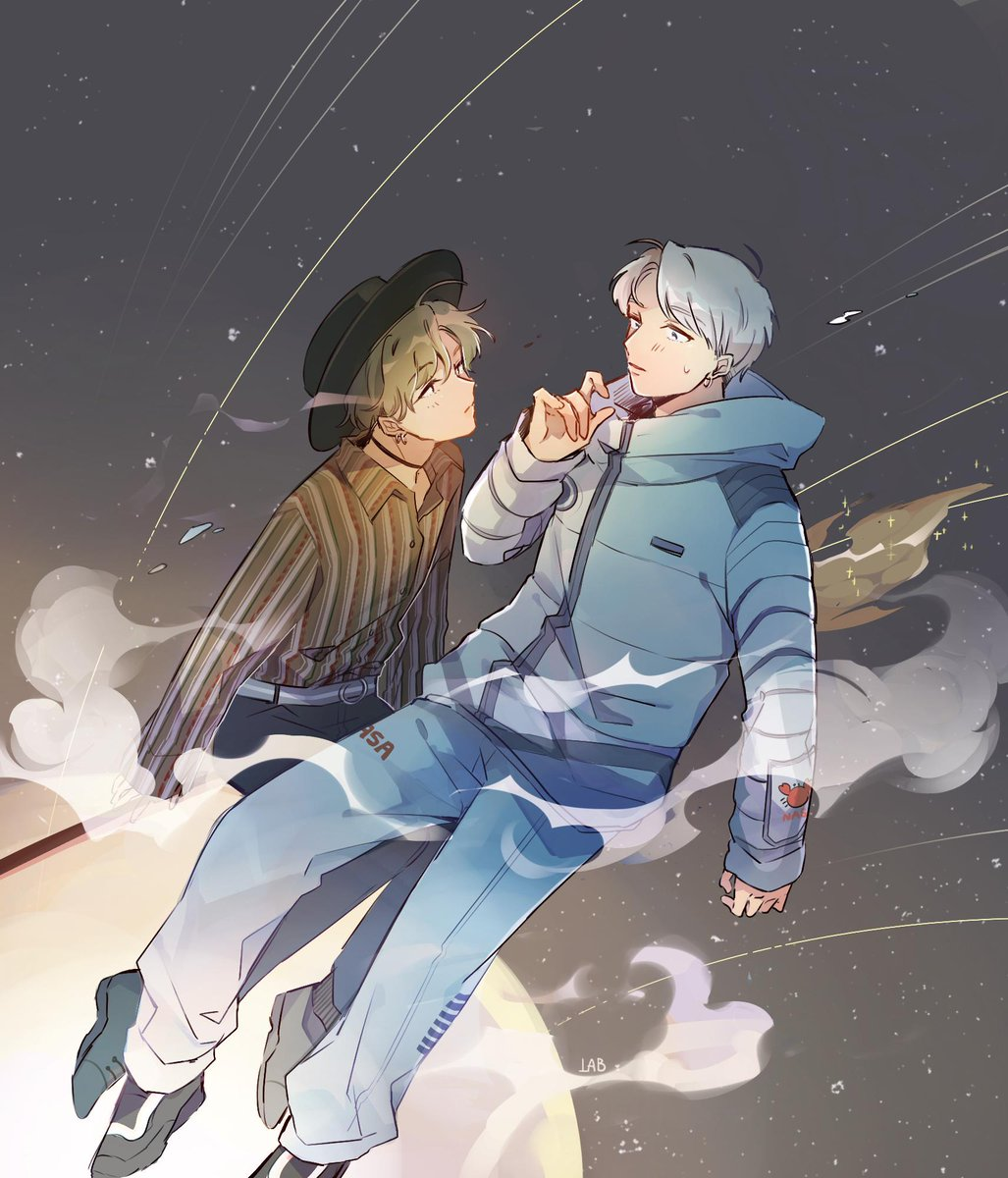 the witch and the astronaut #namgi #btsfanart @BTS_twt<br>http://pic.twitter.com/JzKrGQ6NKU