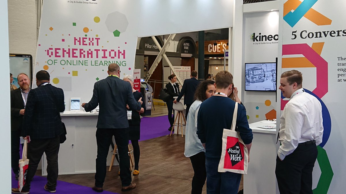 There is still time left to discuss your online learning requirements, with our team of experts; here at the @CIPD #FestivalofWork event. @kineo @The_OxfordGroup