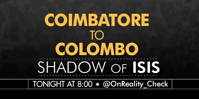 Tonight @OnReality_Check, the ISIS shadow over south India. 8pm NDTV