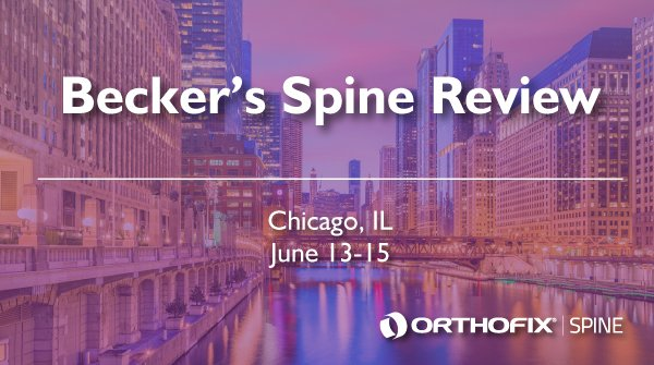 Orthofix Bone Growth Therapy is at booth 2T  @BeckersSpine 17th Annual Spine Review Conference. Stop by and learn about how our devices help stimulate natural bone healing. #BeckersSpine19 #OrthofixSTIM