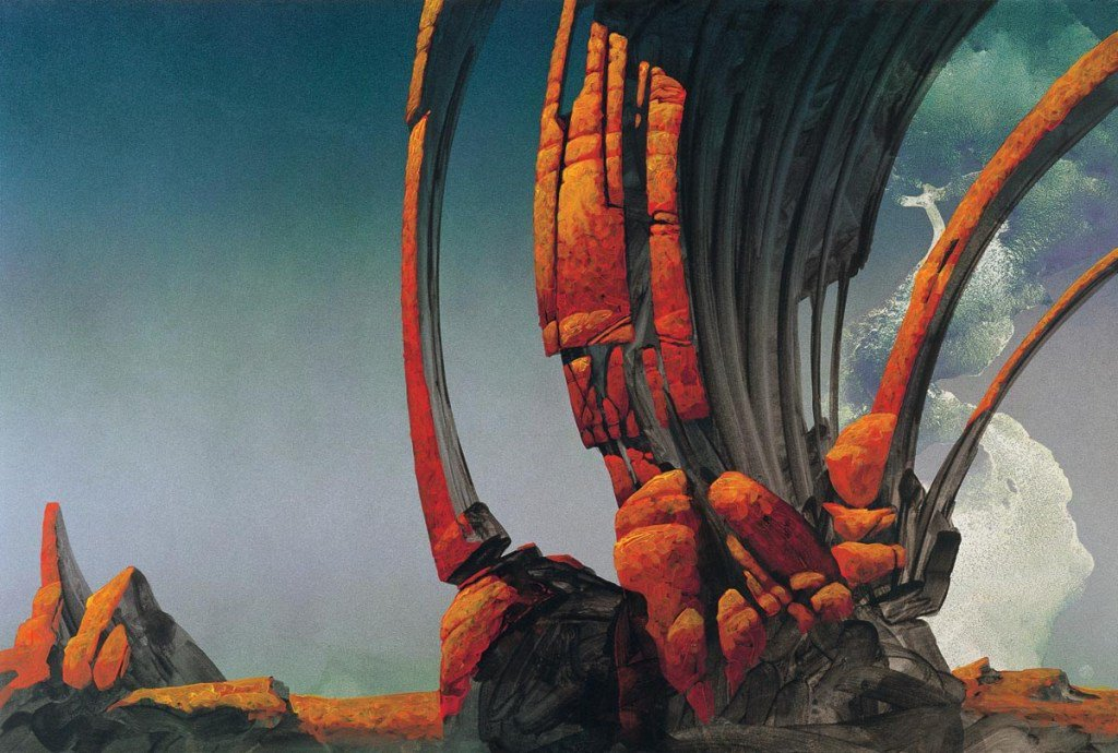 #INSPIRATION: No matter what I do, when I am looking for landscape inspiration my mind seems to always drift back to ROGER DEAN's paintings and all those lovely 70's shapes and tones. I am ok with that.