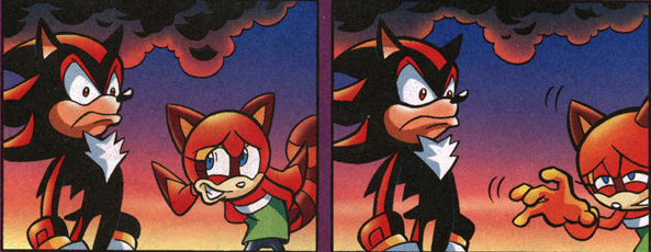 Shadow from Sonic Archie comics
