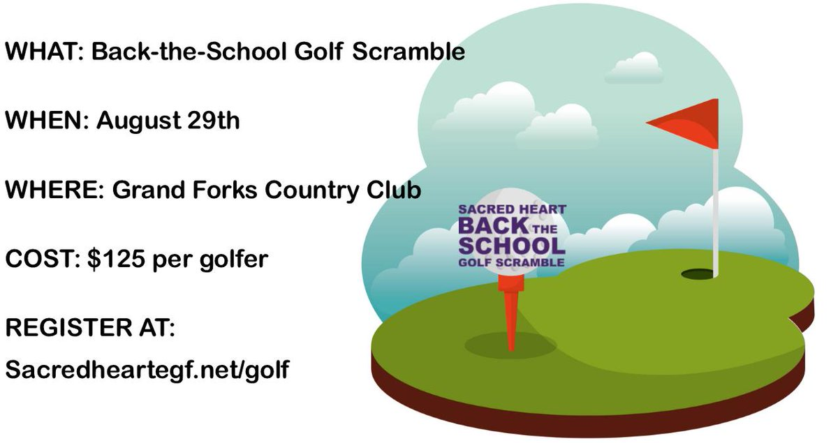 To register as a team or individual for the Back the School Golf Scramble 2019 please visit http://www.sacredheartegf.net/golf  and send in the registration form today! Individual Golfers cost $125, Complete Gaming Package an additional $75! Sponsorships are still available!