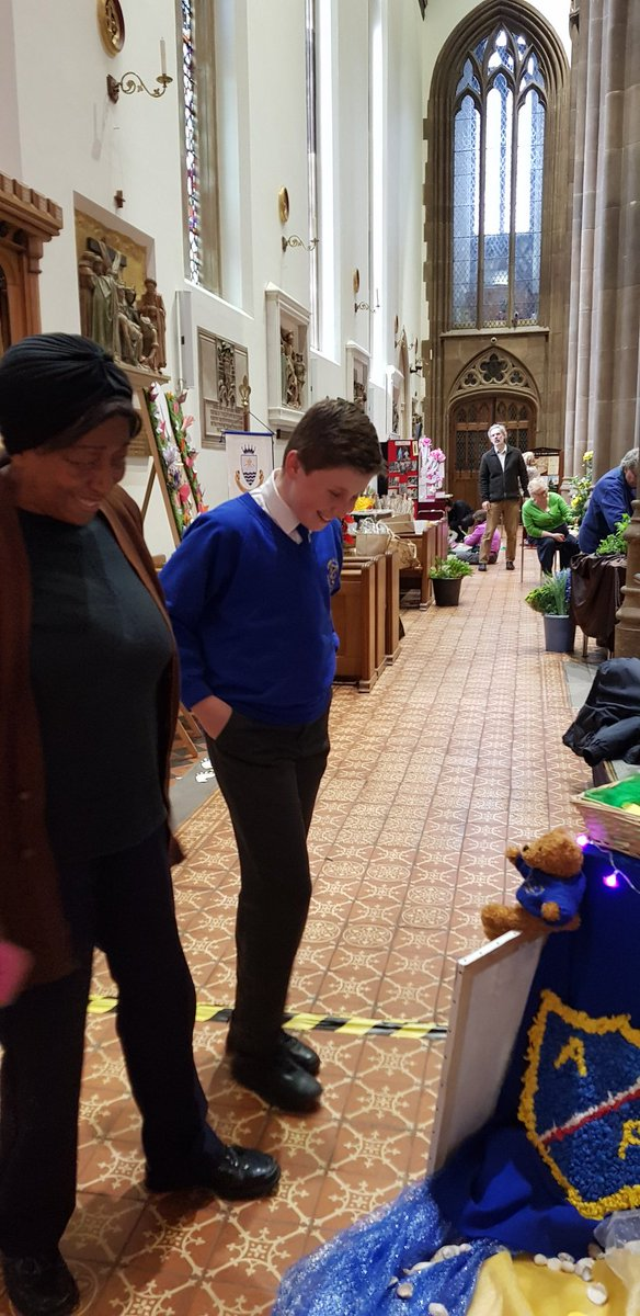 So proud of our pupils who have been eloquently talking about our display to the many visitors at @StChadsBirm today #flowerfestival <br>http://pic.twitter.com/oCMMNCltJv