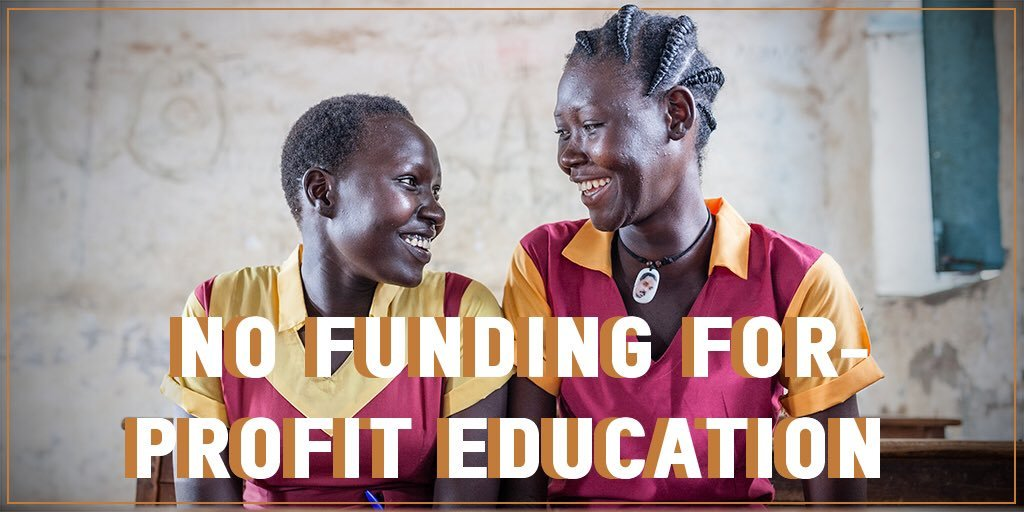 """@GPforEducation affirms that """"for-profit providers of core education services are ineligible for funding"""". This is a major recognition of #EducationBeforeProfit and an important victory against commercialisation and to ensure that the focus is on strengthening public education!"""