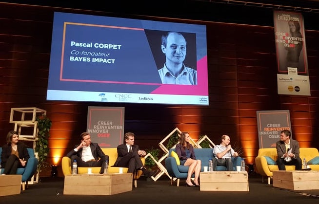This morning, @PascalCorpet shared the story behind the creation of Bayes Impact at #SDE2019. Founding a tech NGO which empowers people at scale was the right and natural decision for him. <br>http://pic.twitter.com/NkcJS6d92V