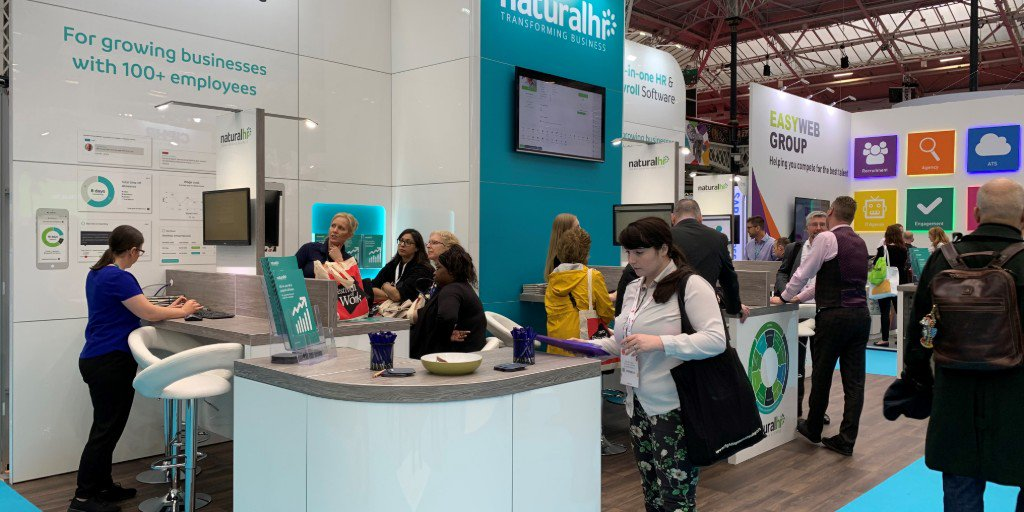 Its a busy final few hours at the @FestivalofWork, but the team are relishing every second! 💬 Dont miss out, come and see the team on stand C100 for a tailored tour of our all-in-one #HRSoftware - including a look at our recently launched fully-integrated #payroll feature.