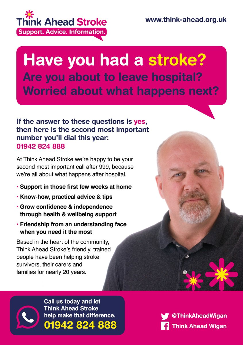 Have you or anyone you know recently had a #stroke? Are you about to leave hospital @WWLNHS @SalfordRoyalNHS? The quicker you get in touch the faster we can help you in those difficult early days. Get in touch today #Wigan #Leigh