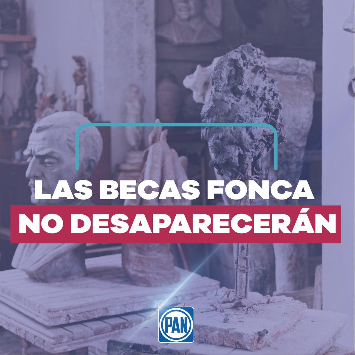 En el #PAN apoyamos la promoción cultural como un agente de desarrollo, ya que creemos en un #México innovador con ideas nuevas y frescas, por ello rechazamos la cancelación de las becas @FONCAMX, al contrario, @GobiernoMX debe incrementar un 35% los recursos para la cultura.