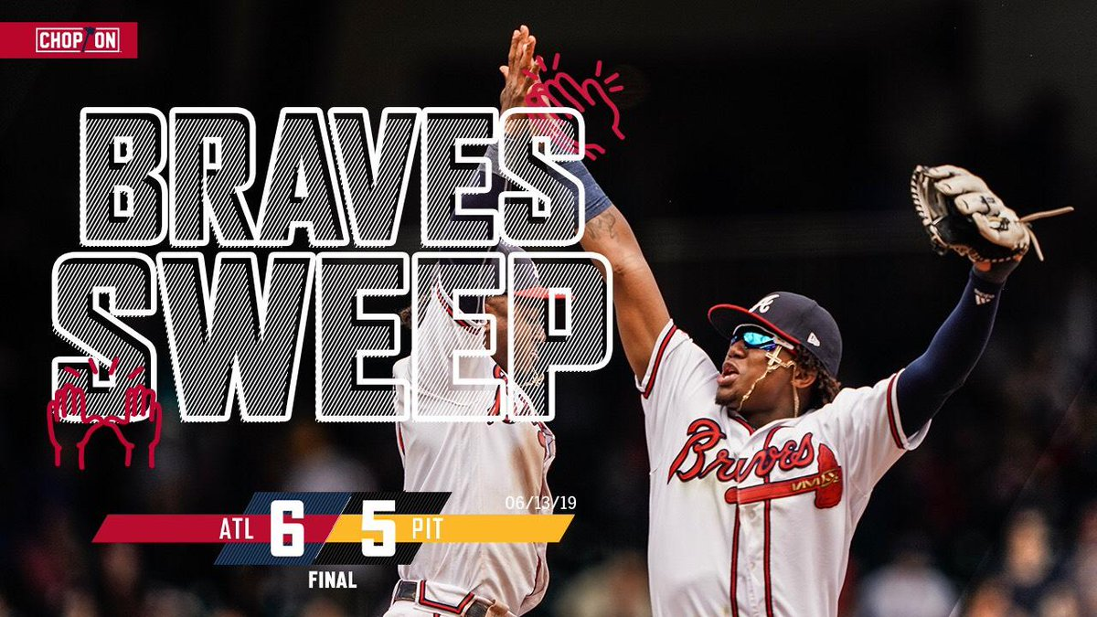 RECAP: Surging #Braves sweep Pirates, win 7th straight. https://atmlb.com/2IK3HpN