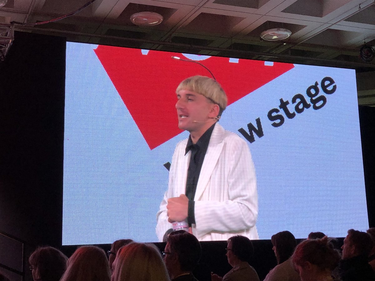 An amazing end to @CIPD #FestivalofWork; @NeilHarbisson speaking about integrated sensory technology in the body. Incredible story, insight & possibilities. Fitting way to end two fab days exploring the future of work. Well done to all involved. Delighted to have played a part!