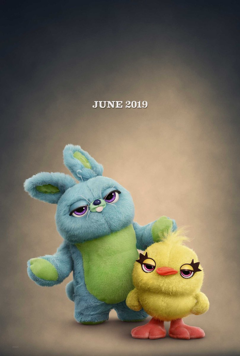 Proud to be in #ToyStory4 voicing Bunny, my favorite rabbit in a film this year.
