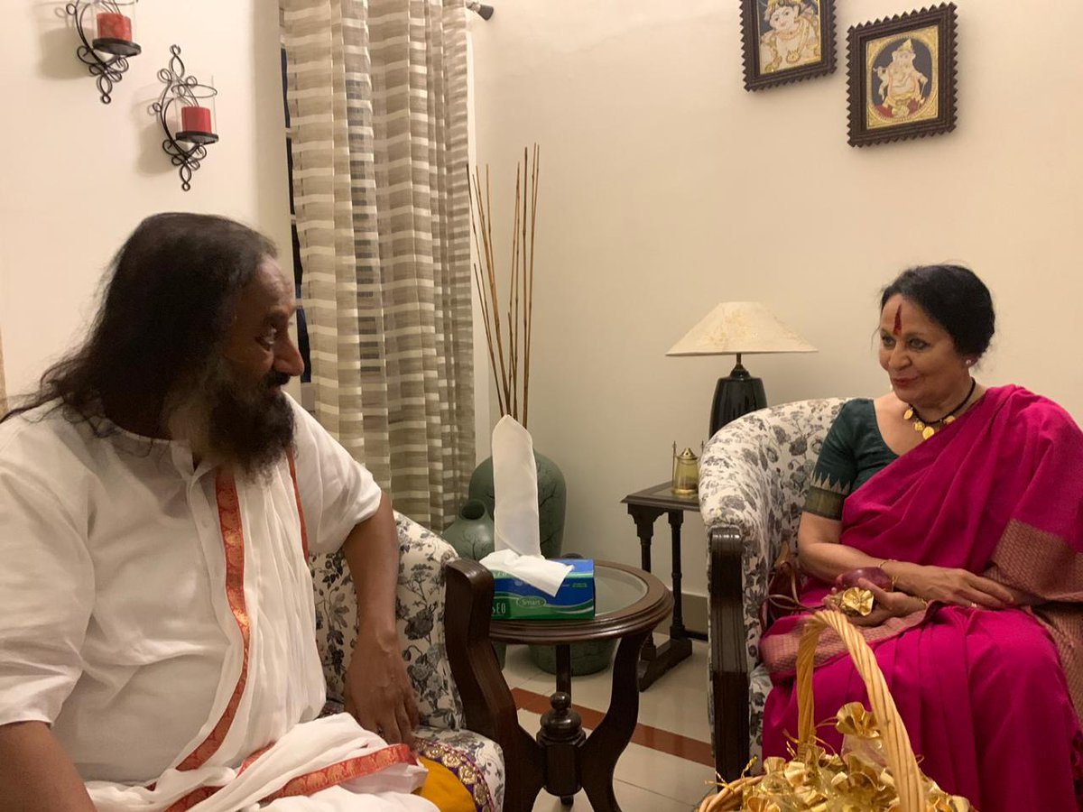 Today blessed by @SriSri