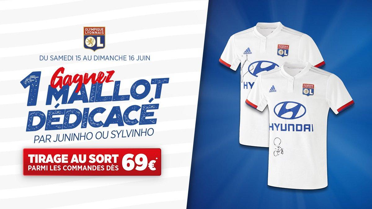 Tentez de gagner 1 maillot dédicacé par Juninho ou Sylvinho ! 👉 lyonna.is/push-maillot19