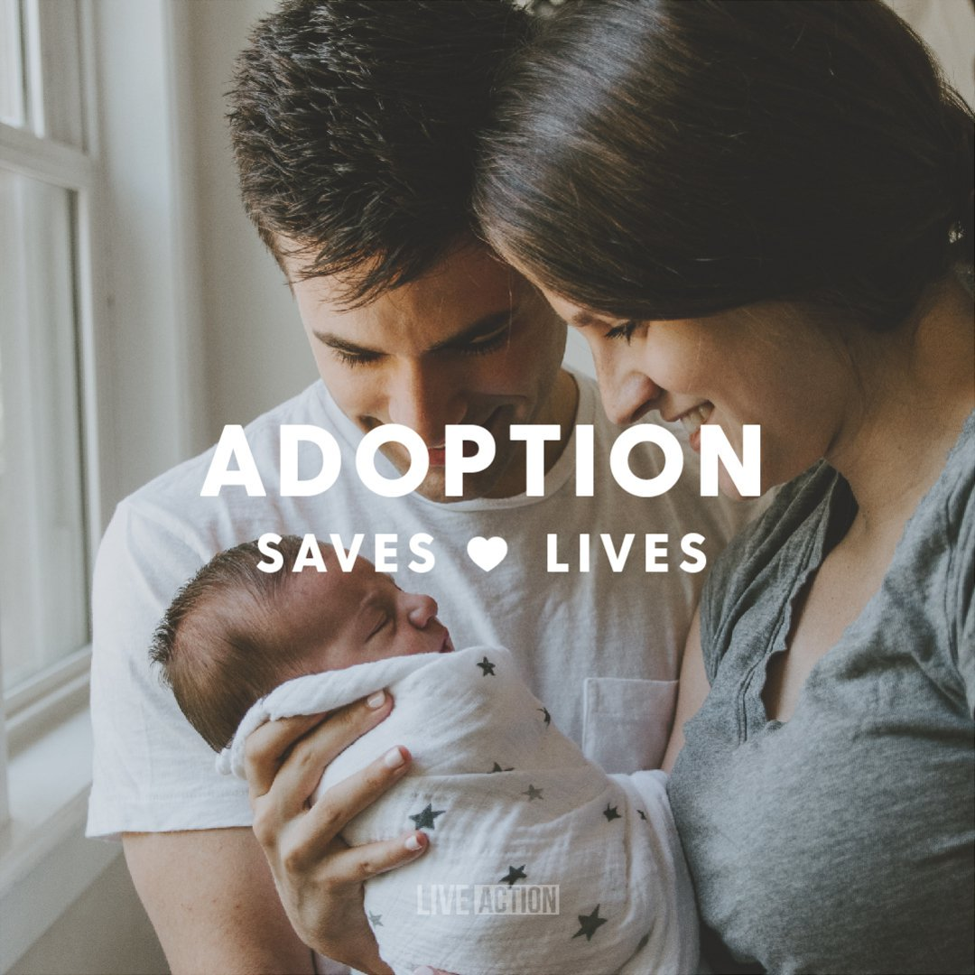 There are 2,000,000+ infertile couples hoping to adopt newborns, but a severe lack of children because they are being killed before birth.  We must reject the violence of abortion & embrace the life-affirming gift of adoption.