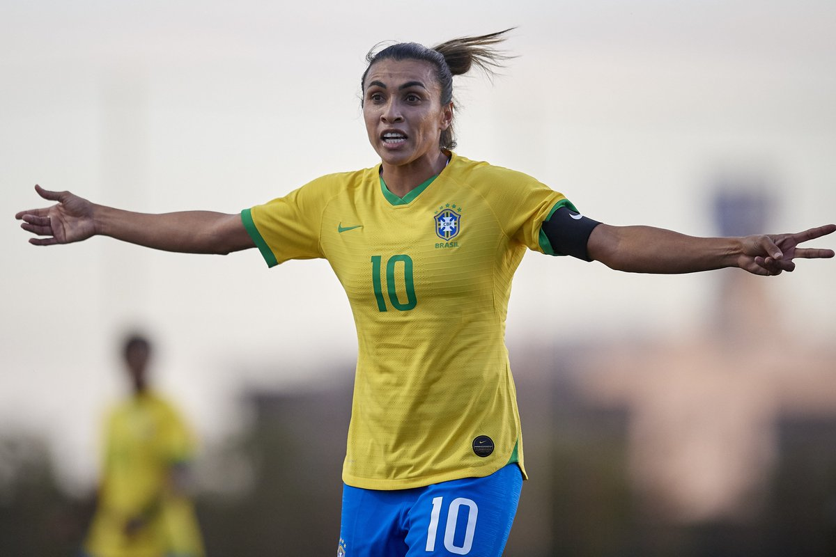 🇧🇷 Brazilian players to score in five different World Cups  ❌ Pele ❌ Ronaldo ❌ Kaka ❌ Ronaldinho  ❌ Rivaldo ✅ Marta  #WWC2019 #AUSBRA