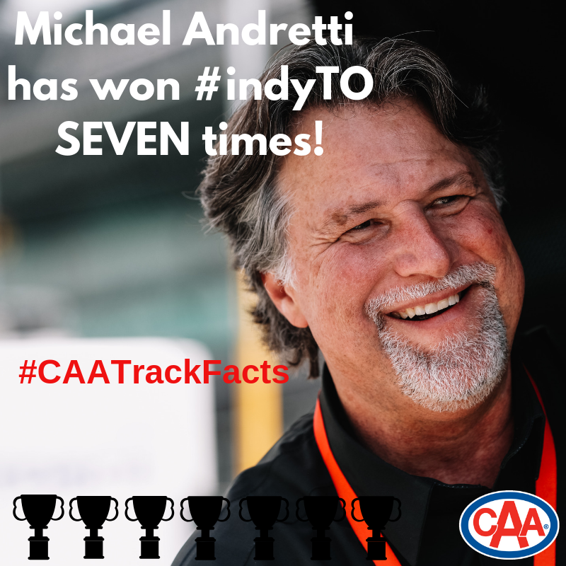 Did you know that Michael Andretti has won #indyTO SEVEN times? #CAATrackFacts / @CAASCO