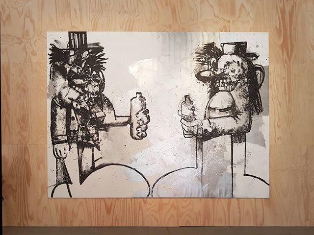 #GeorgeCondo #DoubleElvis #painting #MayYouLiveInInterestingTimes curated by #RalphRugoff @labiennale #Venice #BiennaleArte2019 #ConteporaryoraryArt @georgecondostudio https://t.co/n9TVCGTkae