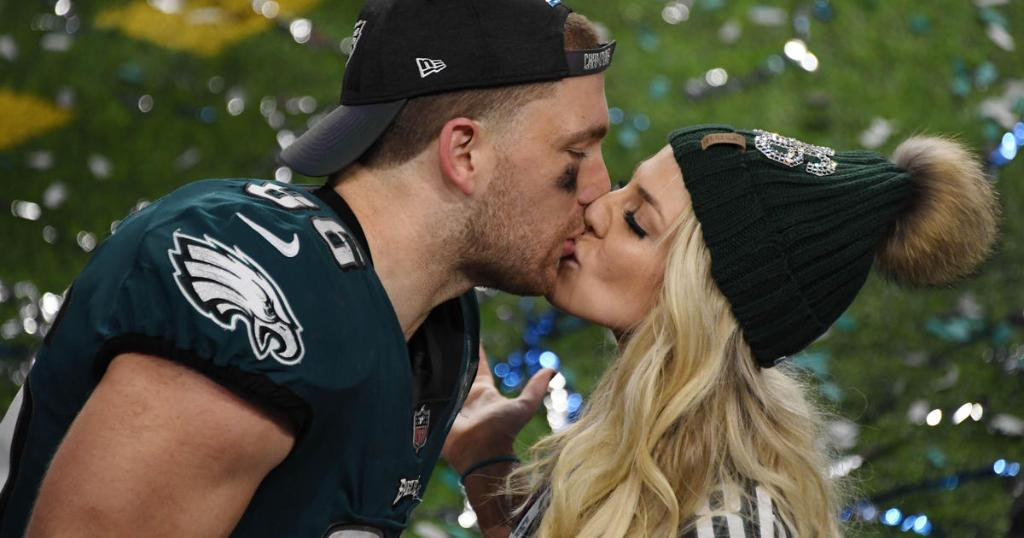 Eagles tight end Zach Ertz leaves training camp to watch wife in World Cup https://cbsn.ws/2wXFCX3