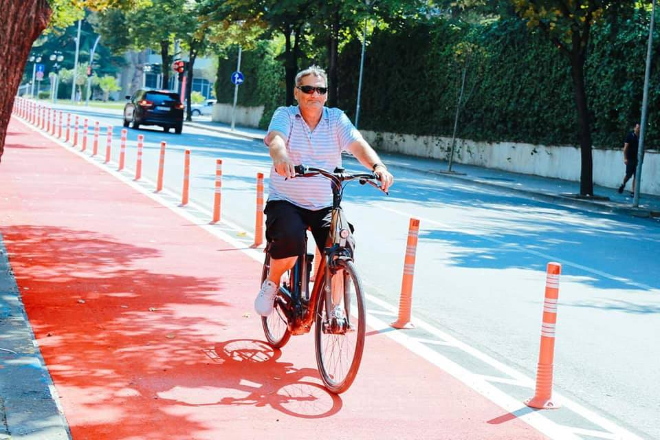 In Tirana, Albania, we are doing much more with dedicated & protected beautiful bike lanes :)