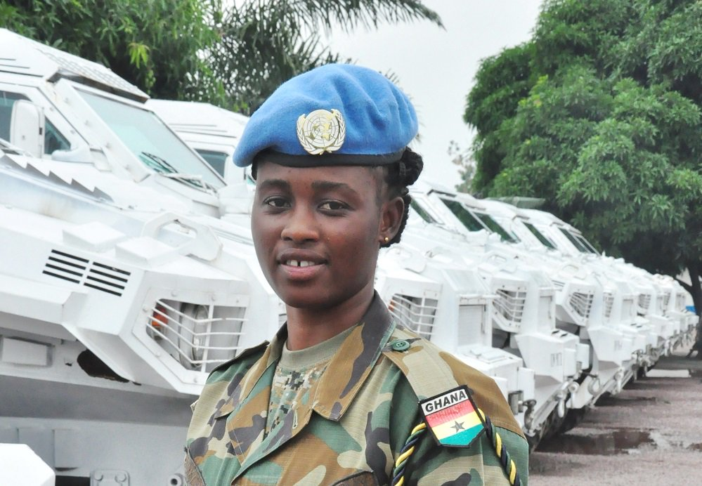 RT @noazhatori: RT @UNPeacekeeping: Meet Takyiwaa Esther from #Ghana. She is a driver serving with @MONUSCO in the #DRCongo. This is her first mission as a @UN peacekeeper. She is one of many young & dedicated women #ServingForPeace in our operations. Re…