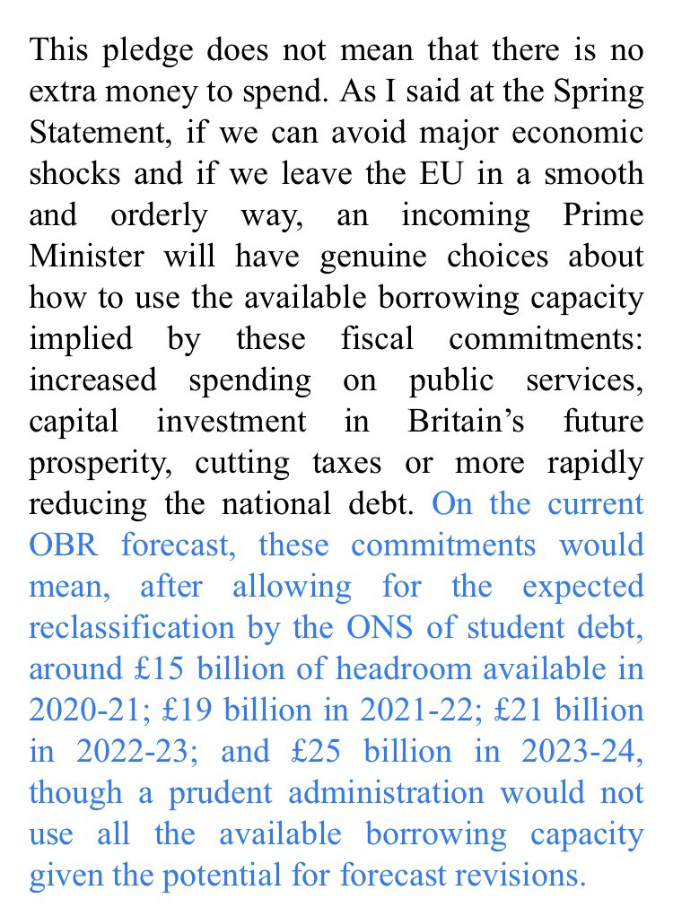 Other than for his own amusement, I am not sure why the Chancellor @PhilipHammondUK has written to all leadership candidates urging them not to spend money they don't have. As he well knows, most of them think Fiscal Discipline is a Finnish S&M heavy metal band