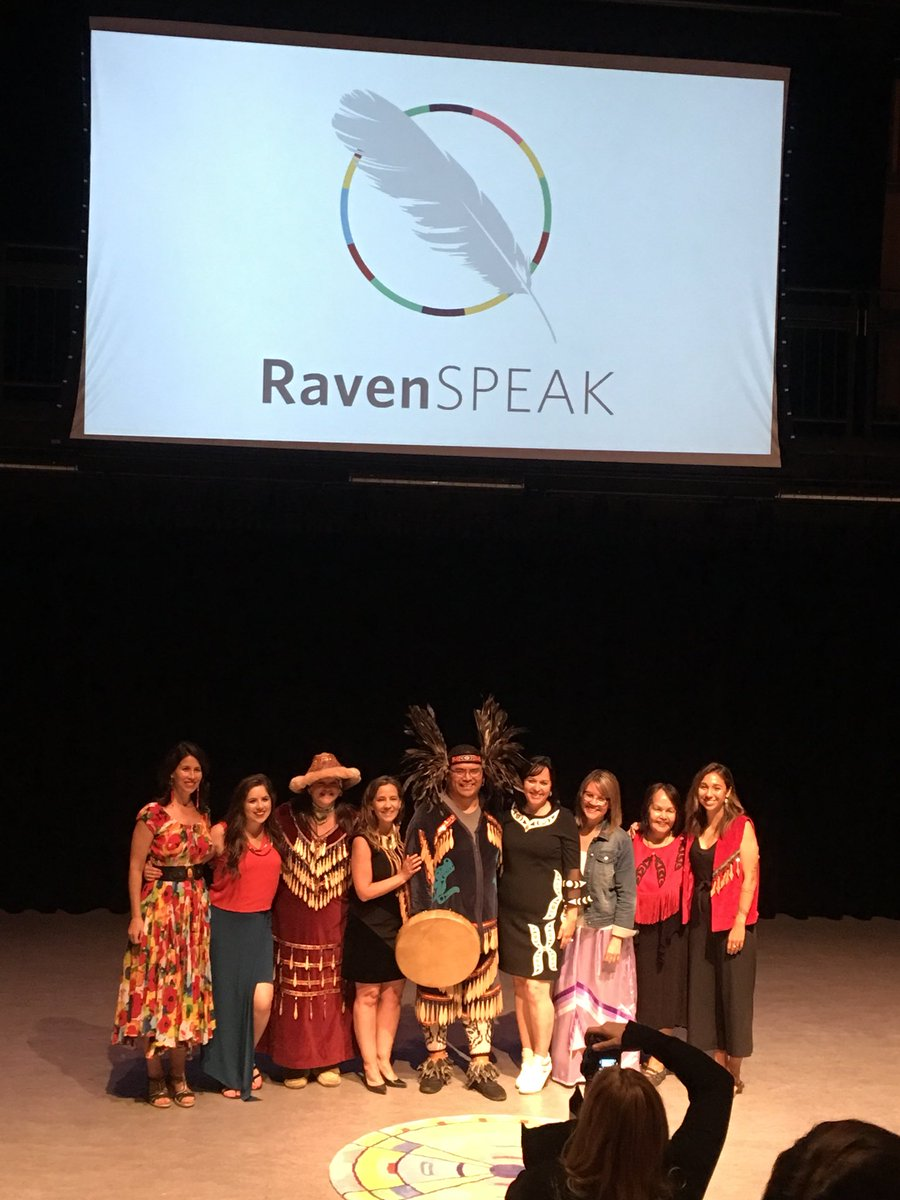 Last night, I witnessed these gorgeous indigenous warrior women bare their souls. It was raw, beautiful, and so incredibly courageous. Their stories matter, they need to be told, and we need to listen. It was such an honor to support these brave women. #amplified #ravenspeak