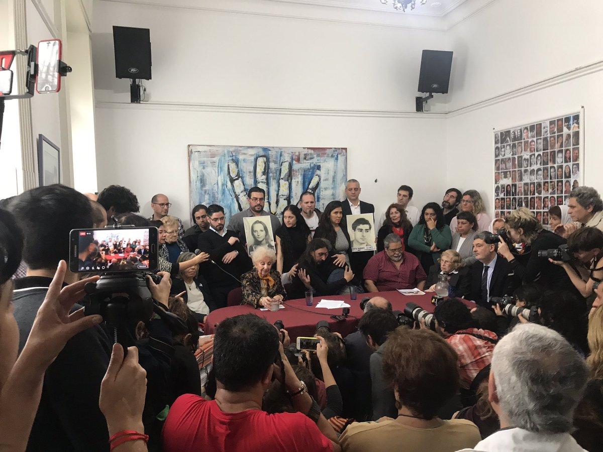 Presentado el nieto 130 que recuperan Abuelas de Plaza de Mayo