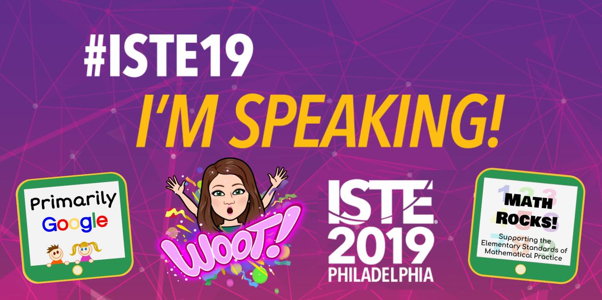 Thrilled to be sharing how #K2CanToo at #ISTE19! Catch my 90-minute workshops: Primarily Google on Saturday at 2PM, and MATH ROCKS featuring the Standards of Mathematical Practice and #Seesaw on Sunday at 9AM  #CUEatISTE19 #CVCUE #EdTechTeam #elemmathchat #GoogleEI