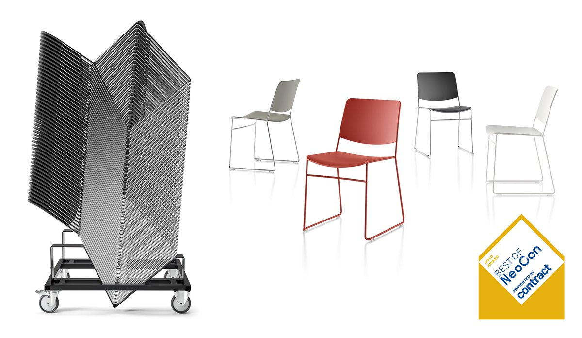 We are thrilled to announce that the first iteration of our new High Density Stacking range, the HDS 1.1, won Gold at the 2019 Best of NeoCon Awards.   Read more here. https://t.co/WacG0AguYa