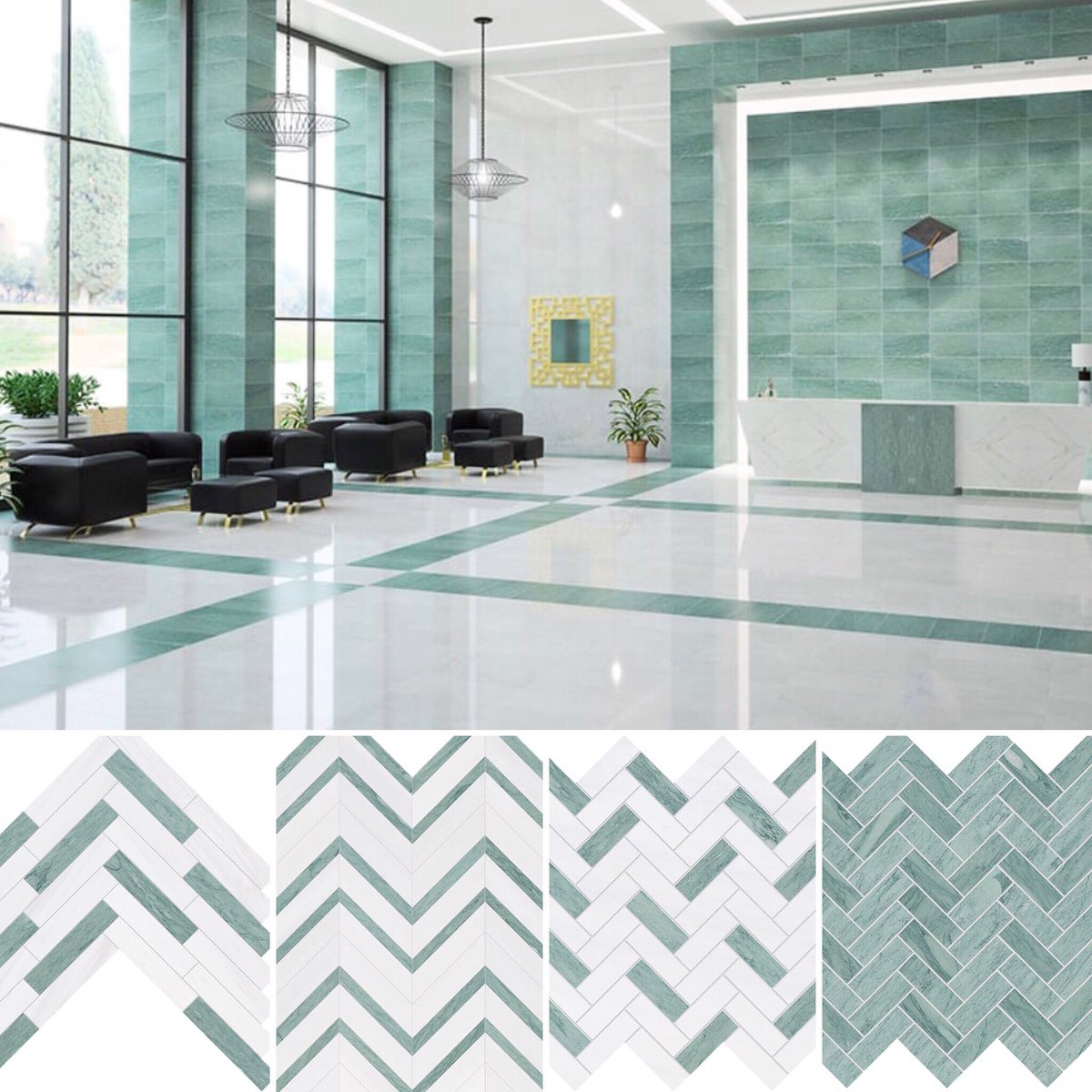 Marble Systems Inc On Twitter Green Is In Add A Splash Of Color To Your Next Design Our Verde Capri Collection Is An Elegant Light Green Marble Available As Tile Mosaic Molding