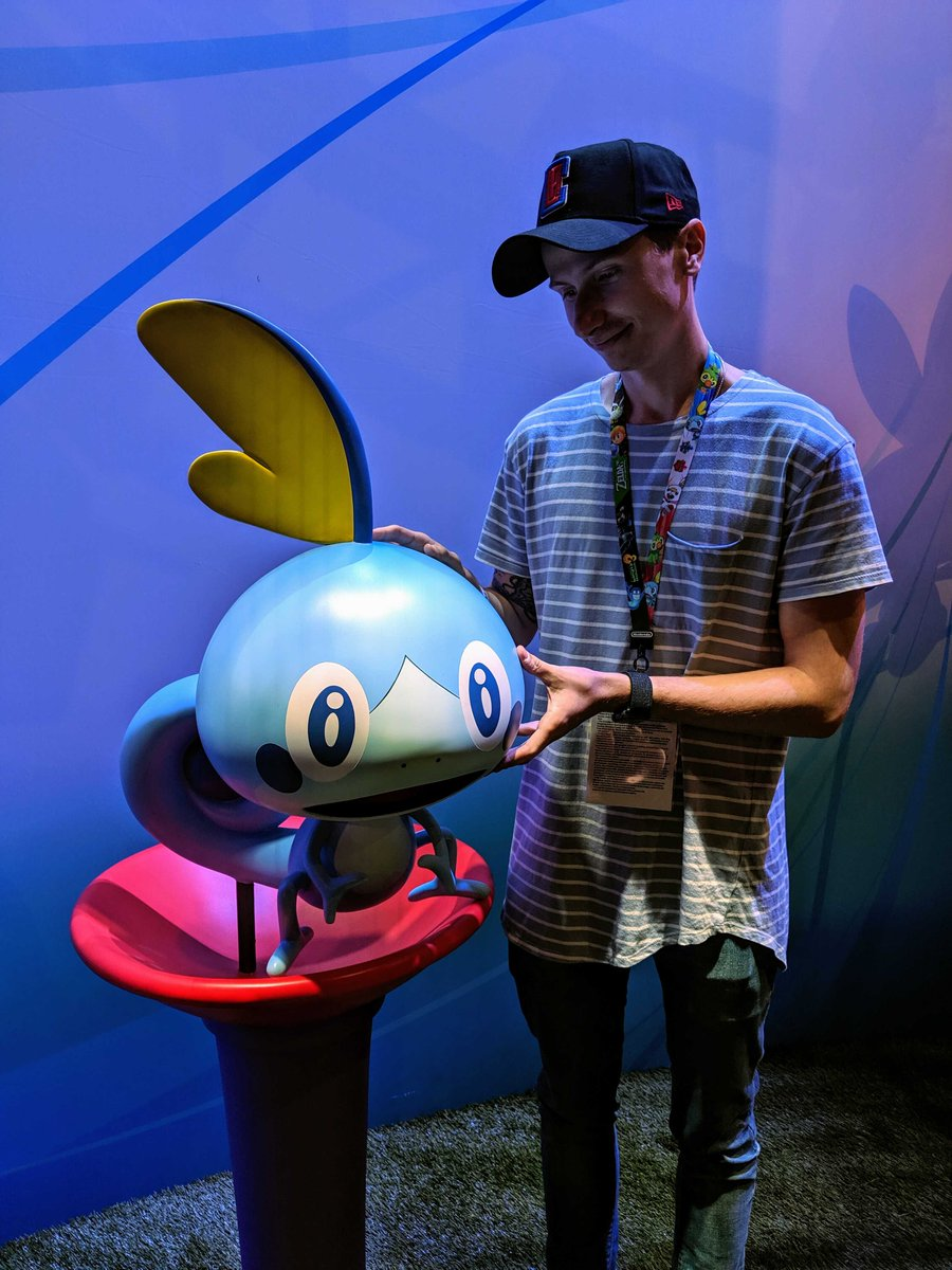 Ready to explore the Galar region with Grookey, Scorbunny and Sobble? Make sure you get a selfie! 🍃🔥💧 Use #PokemonE3 to share your starter Pokémon selfies with us! 📸 #E32019
