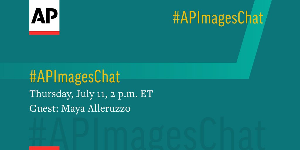 Save the date for our next #APImagesChat with @mayaalleruzzo, Thursday, July 11 at 2 p.m. ET. We hope you can join us!