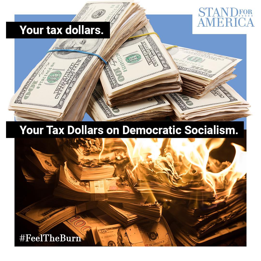 Your tax dollars on @BernieSanders' Democratic Socialism. #FeelTheBurn #NeverSocialism <br>http://pic.twitter.com/NtBvzv2o9c