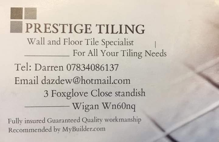 It isn't just in our centre that we get wonderful local businesses helping us out. Darren from Prestige Tiling donated his time to help out with a re-fitting at our charity shop in Chorley!! #ThankYou #Lancashirehour