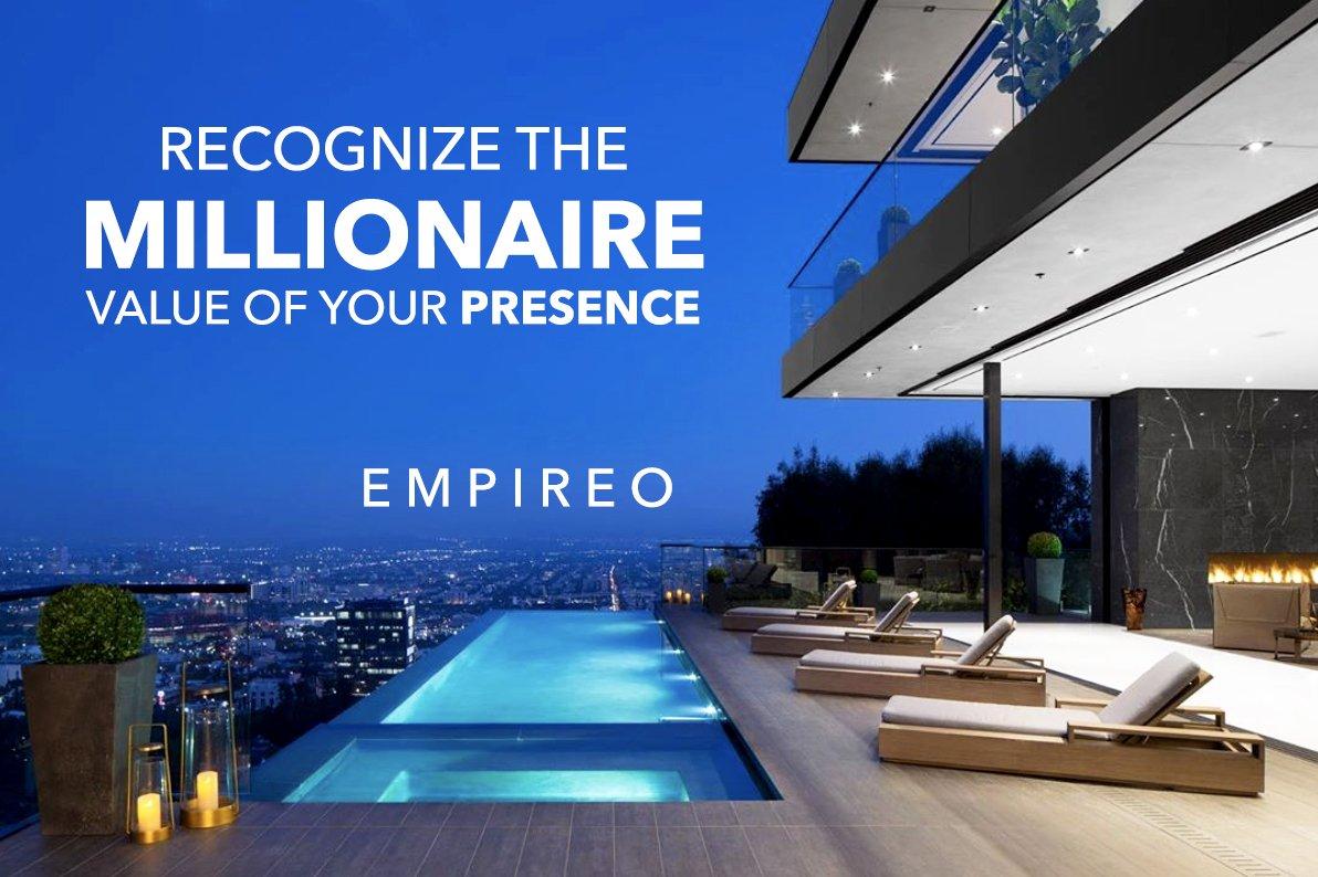 "Recognize the #MILLIONAIRE value of your presence.  ""QUANTUM LEAP TO MILLIONAIRE""💰💎 ▶️ I want to know more about the program https://empireoquantumleap.com/  #MILLIONAIREMINDSET #LUXURYLIFE #ENRICHYOURMID"