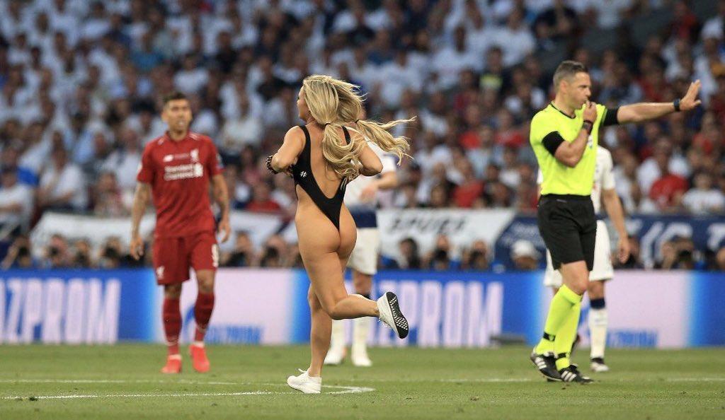 Champions League streaker Kinsey Wolanski paid Liverpool